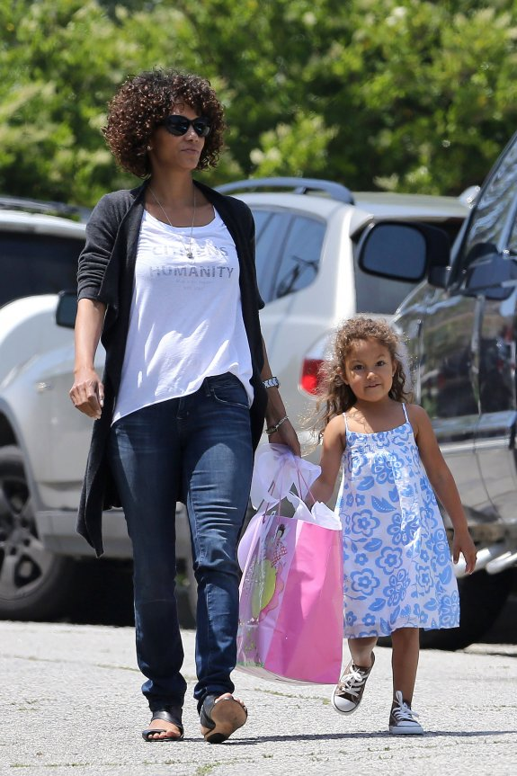 halle berry and kids photos